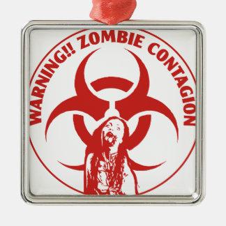 ZombieBio-fara smitta Julgransprydnad Metall