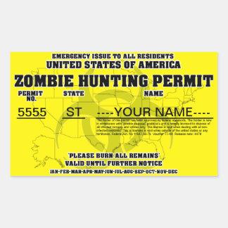 Zombiejakttillstånd Rektangulärt Klistermärke