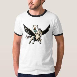 ZombieJesus ritter Pegasus till härlighet Tee Shirts