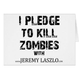 Zombielöfte Merch Hälsningskort