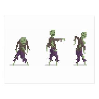 Zombien 8-Bet PIXELkonstvykortet Vykort