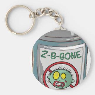 Zombien är borta sprej kan rund nyckelring