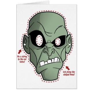 Zombien maskerar hälsningskort