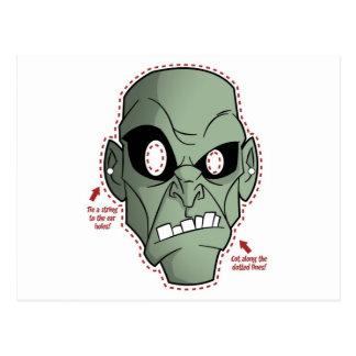 Zombien maskerar vykort