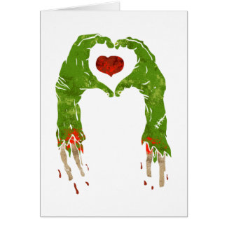 zombien räcker danandehjärta hälsningskort