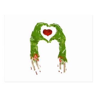 zombien räcker danandehjärta vykort