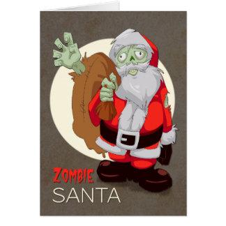 Zombien Santa kommer med presenter för jul Hälsningskort
