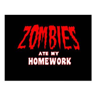 Zombies åt min läxa vykort