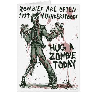 Zombies behöver kramar för hälsningskort