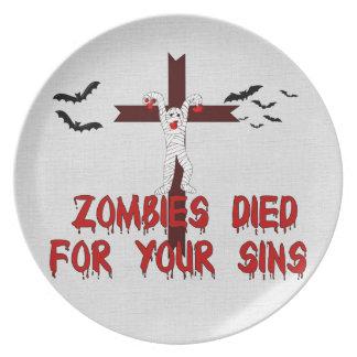 Zombies dog för ditt syndar tallrik