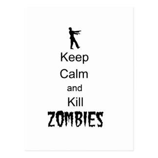 Zombies för lugn och för döda för vykort