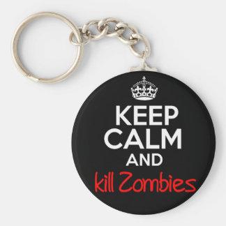 Zombies Keychain för behållalugndöda Rund Nyckelring