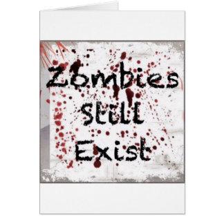 Zombies stillar existerande hälsningskort