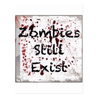 Zombies stillar existerande vykort
