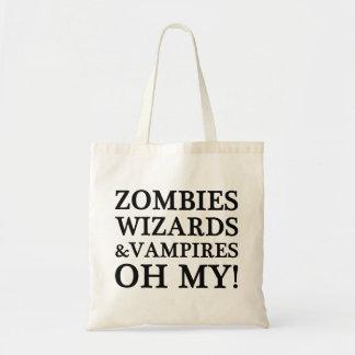 Zombies, trollkarlar och vampyrer--Oh mitt! Boken  Tote Bag