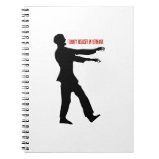 Zombies tror inte hos människor anteckningsbok