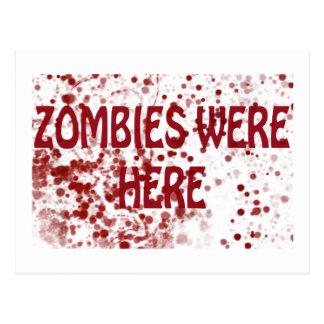 Zombies var här vykort