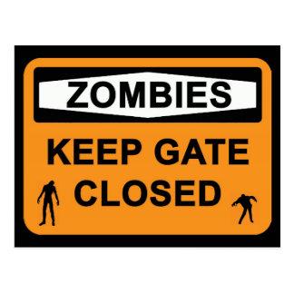 Zombies Vykort