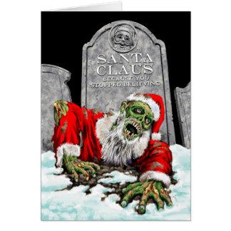 ZombieSanta julkort (den tomma insidan) Hälsningskort