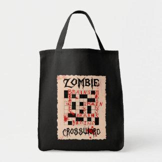 Zombie'sens korsord hänger lös tygkasse