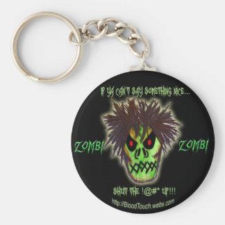 zombieshutupkeychain rund nyckelring