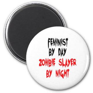 ZombieSlayerfeminist Magnet Rund 5.7 Cm