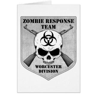 Zombiesvarslag: Worcester uppdelning Hälsningskort
