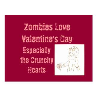 ZombieZombiesvykort för valentin dag Vykort