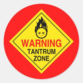Zona klistermärkear för Tantrum Runt Klistermärke