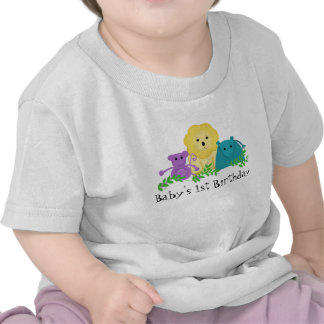 Zoodjurbaby 1st födelsedag tee