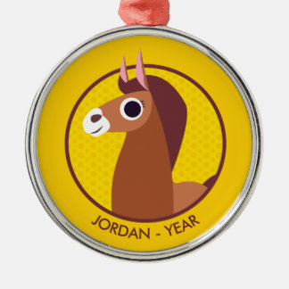 Zora hästen julgransprydnad metall
