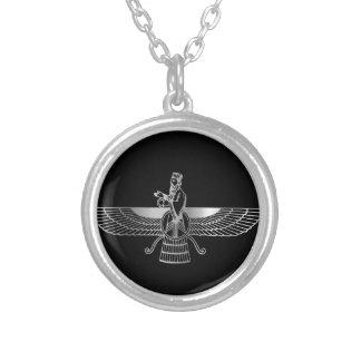 Zoroastrianism Faravahar Silverpläterat Halsband