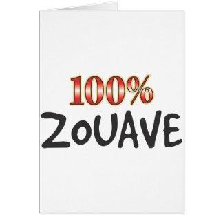 Zouave 100 procent hälsningskort