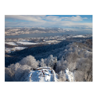 Zurich Schweitz vinter Vykort