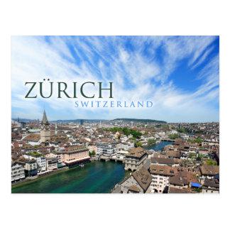 zurich switzerland vykort