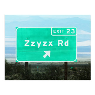Zzyzx Rd.Exit Vykort